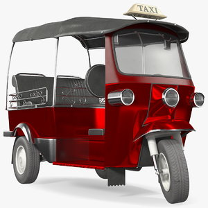 auto rickshaw rigged 3D model