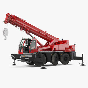 3D compact mobile crane generic model