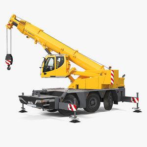 3D compact mobile crane liebherr