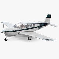 Light Civil Airplane Generic Rigged