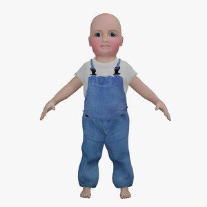 3D cartoon rigged rhymes baby