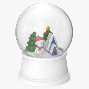 snow globe christmas decoration model