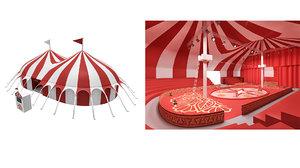 circus interior exterior model