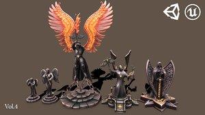 ue4 statue 3D model