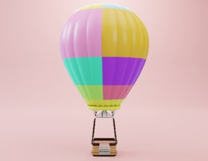 air balloon cute 3D model