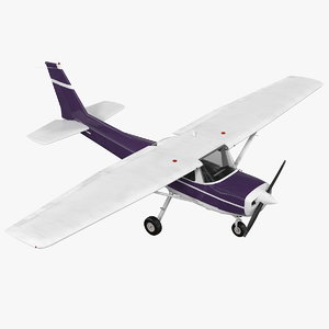 3D single engine aircraft rigged model
