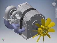 Wankel Rotary Engine 3D model