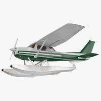 Light Floatplane Aircraft Rigged