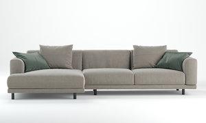 3D model nevyll sofa ditre italia