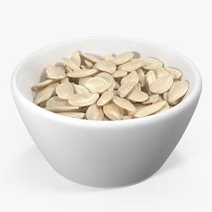 pumpkin seeds shell ceramic 3D model