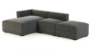 quadra sofa article 3D model