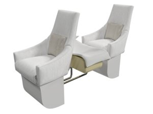 seat airplane families 3D