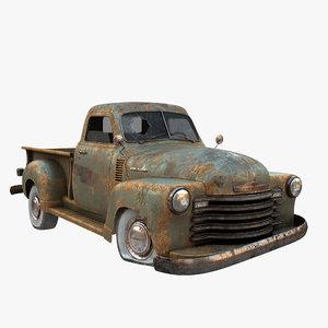 chevrolet pickup 1947 3D model