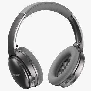 bose headphones silver 3D