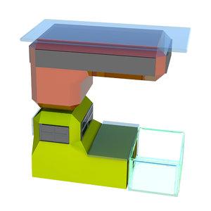 english letter c shape 3D model