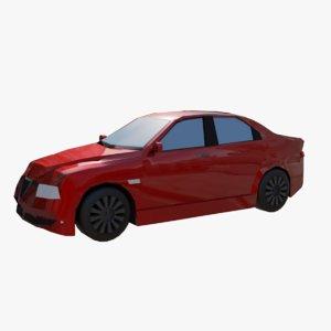 3D car rendered illustration