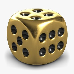 3D dice gold 2