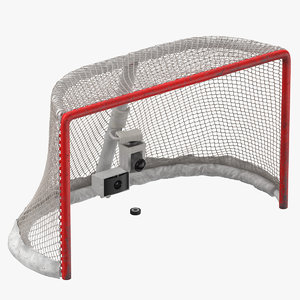 3D ice hockey goal net model