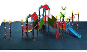 3D model kids playground 08