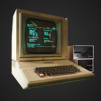 Apple 2 computer - PBR Game Ready model VR-AR VR / AR / low-poly