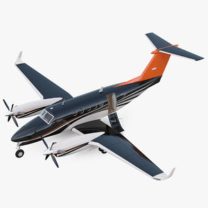 3D twin turboprop civil utility
