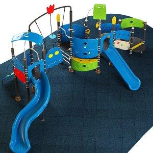 kids playground 09 3D model
