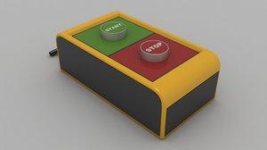 3D model electrical start stop