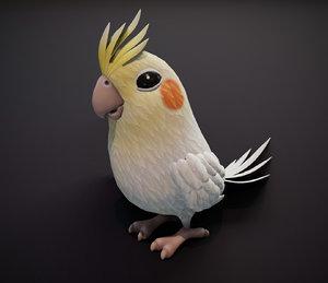 cartoon parrot bird animations 3D model