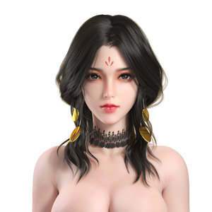 character hair face 3D model