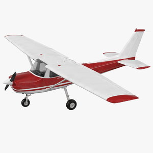 civil aircraft generic rigged 3D