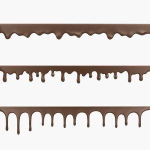 3D chocolate drips