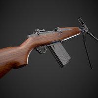 Beretta BM 59 rifle Low-poly