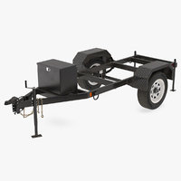 Heavy Duty 2 Wheel Trailer Rigged