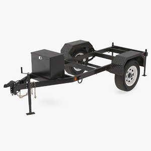 heavy duty 2 wheel 3D model