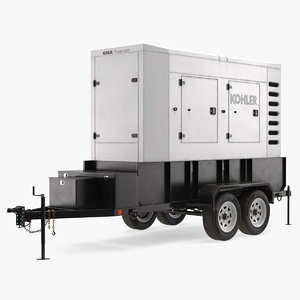 3D model kohler big mobile generator