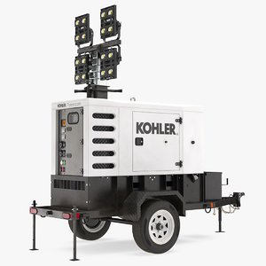 3D kohler mobile generator lighting model