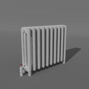 3D old radiator