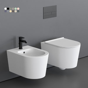 3D toilet form wall-hung bidet