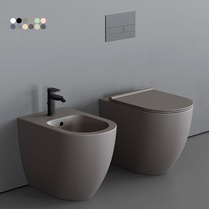 3D toilet form bidet model