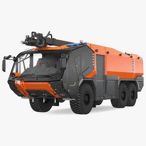 firefighting truck 6x6 3D
