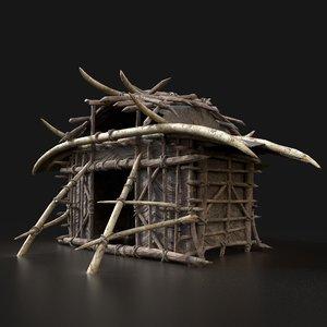 aaa fantasy orcish hut 3D model
