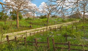 landscape path forest 3D