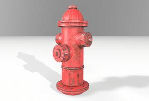 3D hydrant pbr blender model