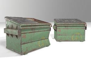3D dumpsters pbr contains model