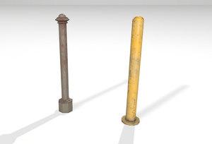 road columns 3D model