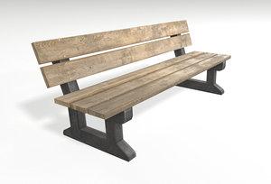 3D bench pbr blender