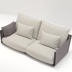 3D giorgetti adam sofa design model