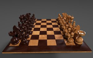 3D chess board set complete