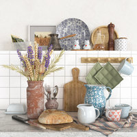 Decorative set for the kitchen 01