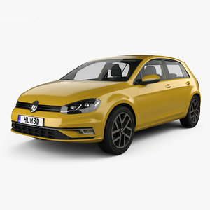 volkswagen golf 2017 3D model